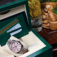 Rolex 116131 demi vàng hồng