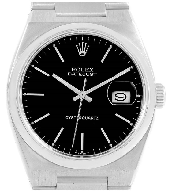 Rolex_Oysterquartz_Datejust_Black_Dial_Vintage_Mens_Watch_17000
