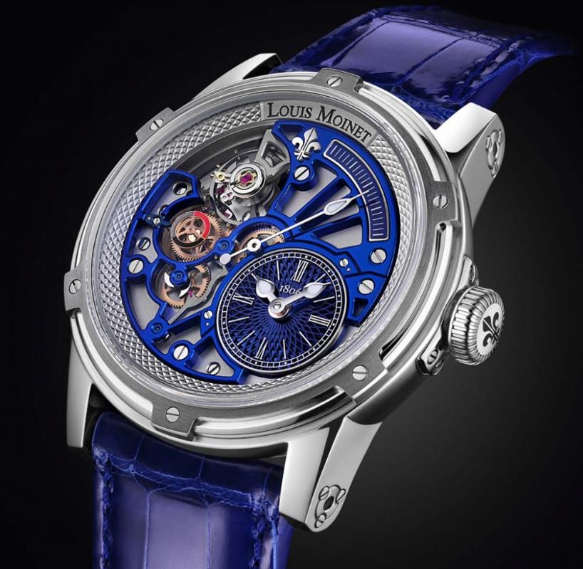 Đồng hồ Louis Moinet Tempograph chrome blue