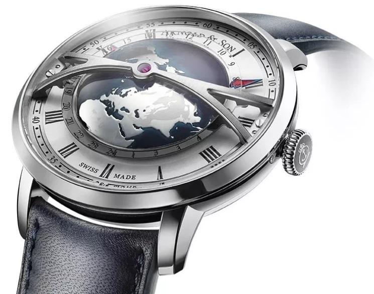 Đồng hồ Arnold & Son Globetrotter Worldtimer