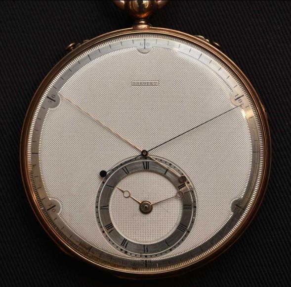 Mặt số Guilloche trên một chiếc đồng hồ bỏ túi của Breguet