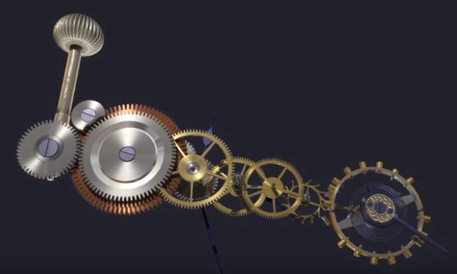 Một bộ máy đồng hồ hoàn chỉnh