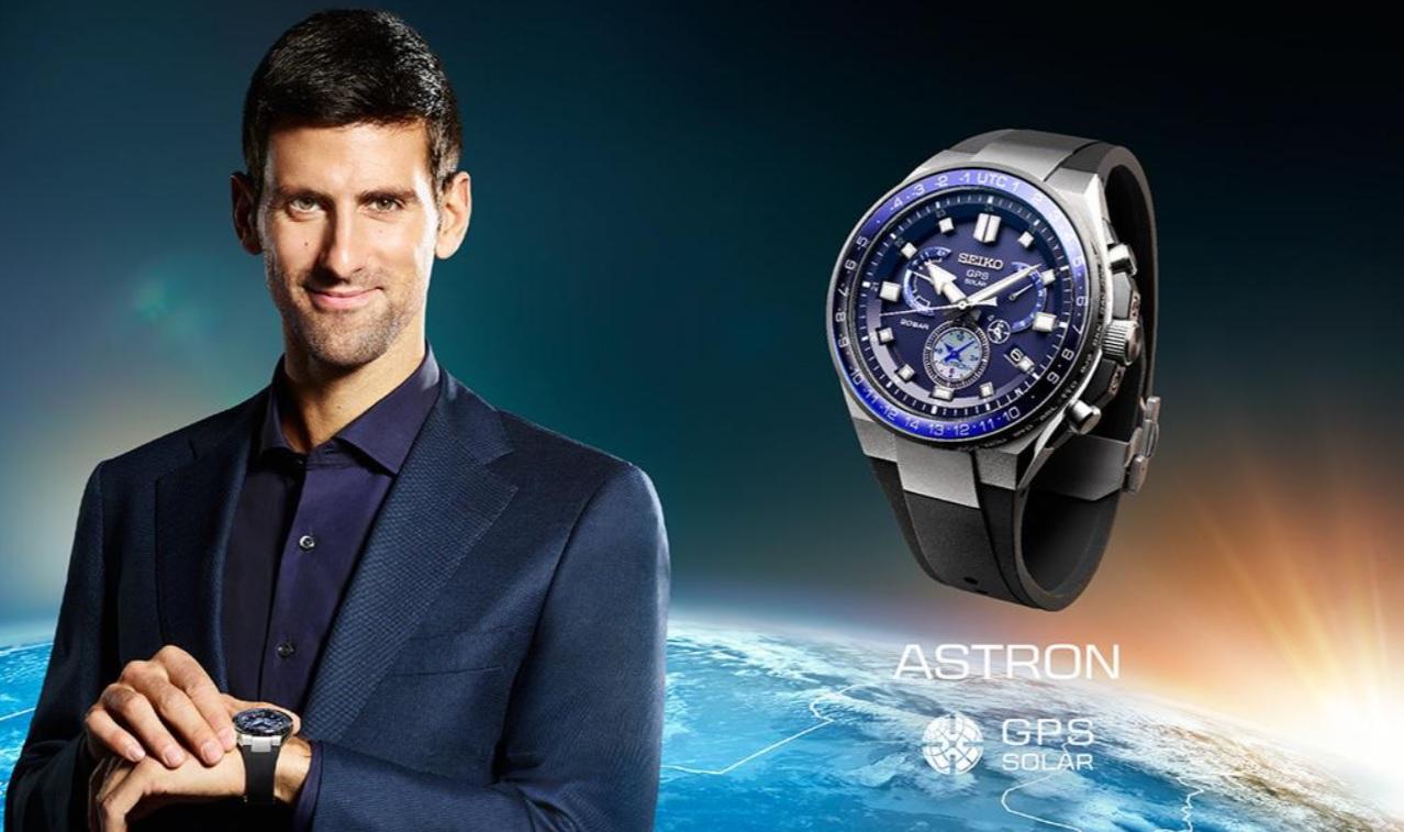 Novak Djokovic là đại sứ thương hiệu Seiko