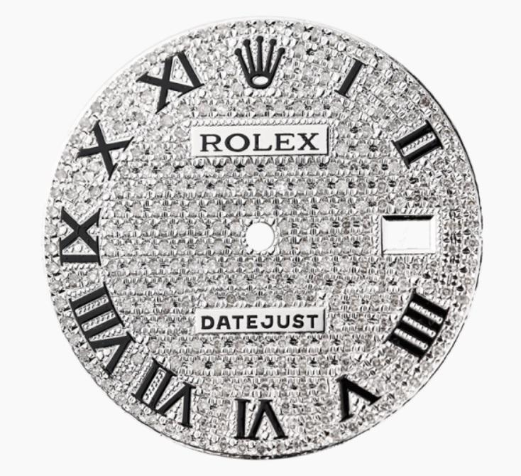Rolex_DateJust_36mm_Steel_Diamond_Pavé_Custom_Dial