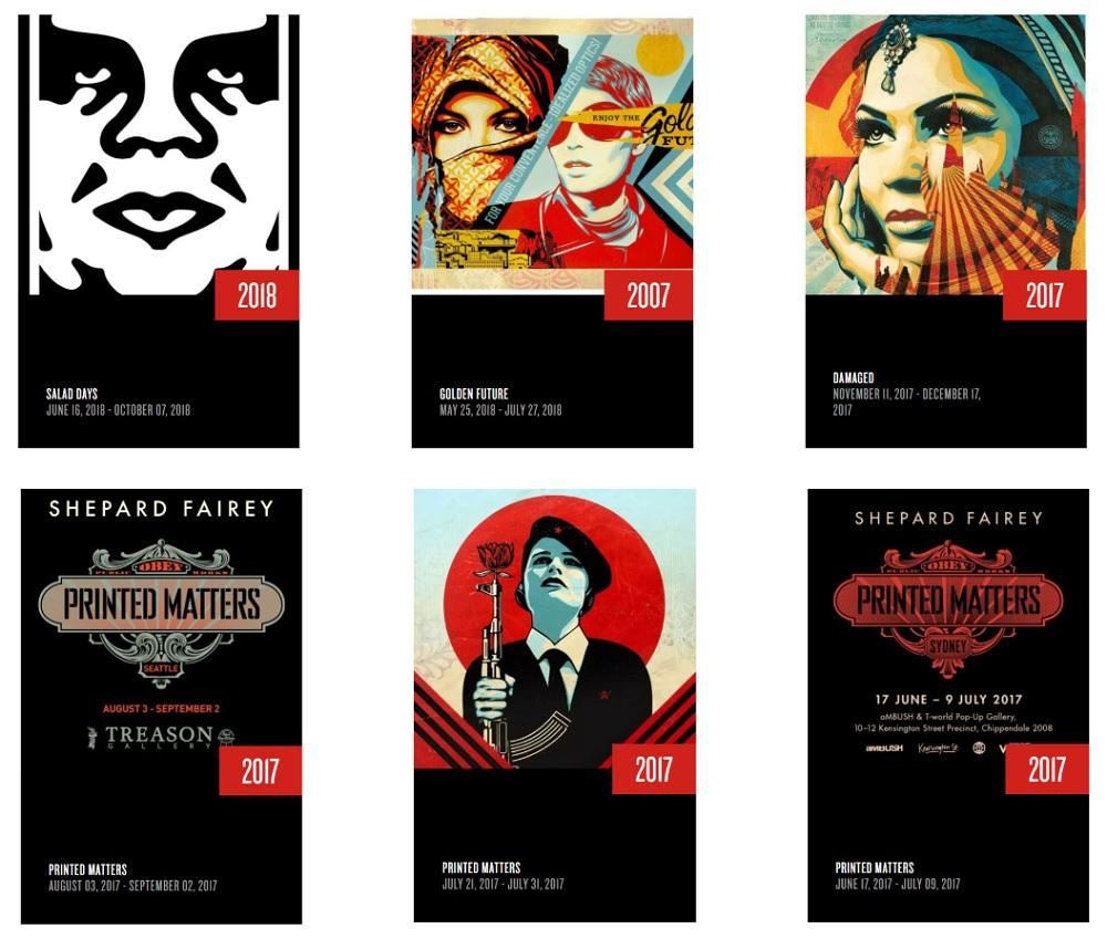 Cống hiến của Shepard Fairey đã đạt tới danh tiếng cao nhất trong giới nghệ sĩ Graffity và Pop Art