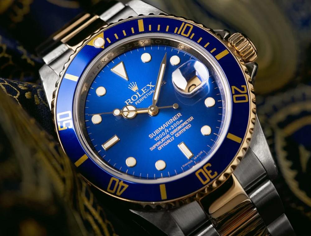 Mặt số và Bezel của Rolex Submariner 16613