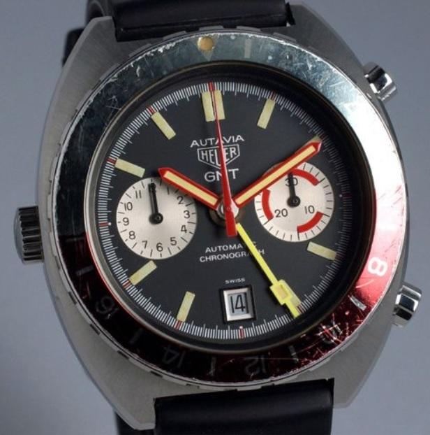 Heuer Autavia 11630 GMT sản xuất năm 1970 giá bán 7.950 USD