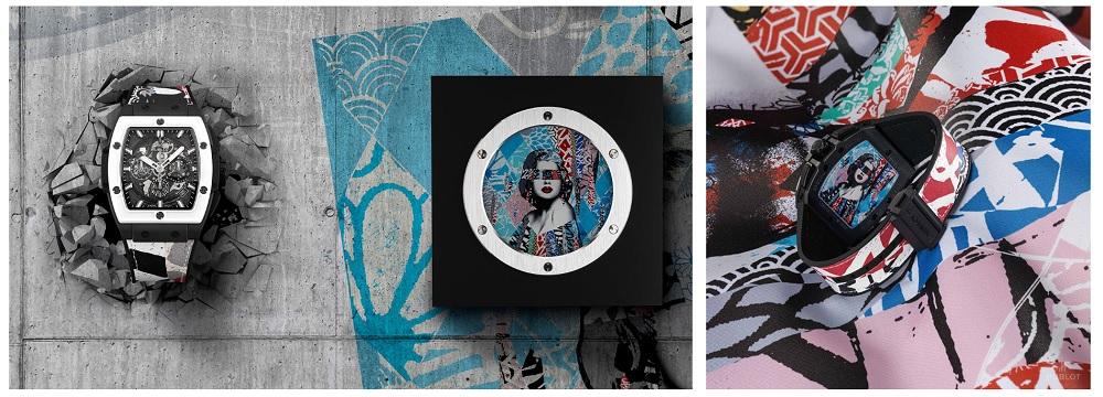 """Người phụ nữ cộp mác nghệ thuật của Hush trên chiếc Hublot Spirit of Big Bang West Coast Ceramic – """"Fame"""""""