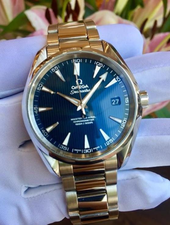 Omega Seamaster Aqua Terra Master Co axial Blue dial