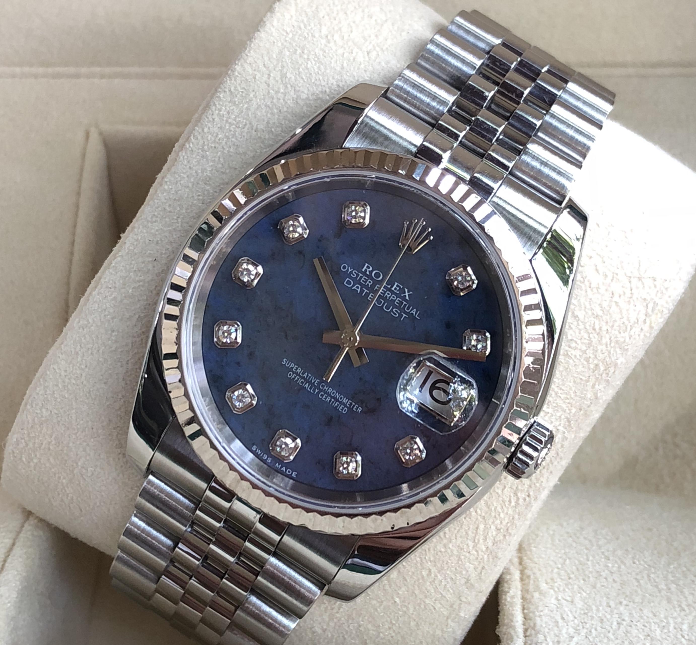 Rolex 116234 mặt đá xanh cực hiếm sản xuất năm 2005-2