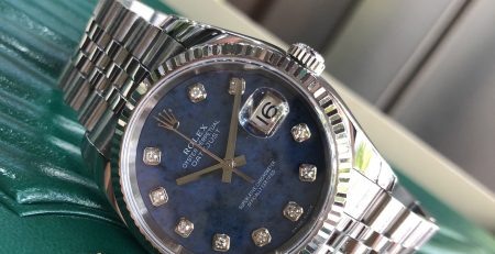 Rolex 116234 mặt đá xanh cực hiếm sản xuất năm 2005-6