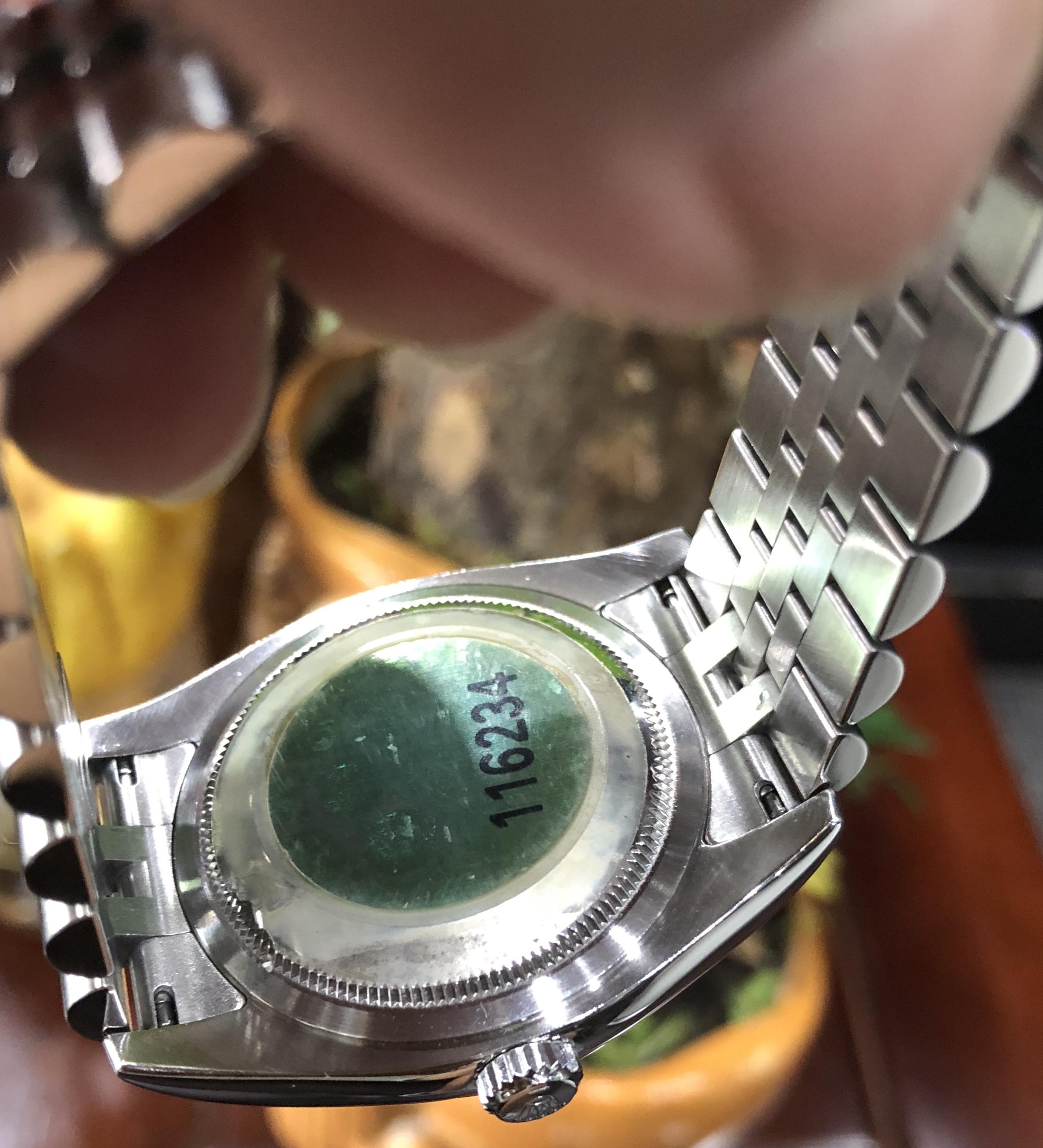 Rolex 116234 mặt đá xanh cực hiếm sản xuất năm 2005-7