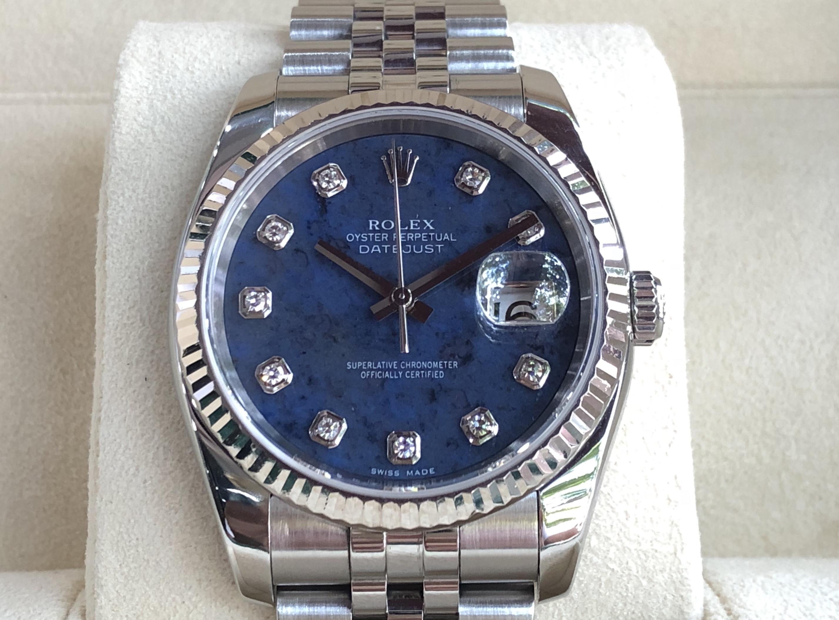 Rolex 116234 mặt đá xanh cực hiếm sản xuất năm 2005