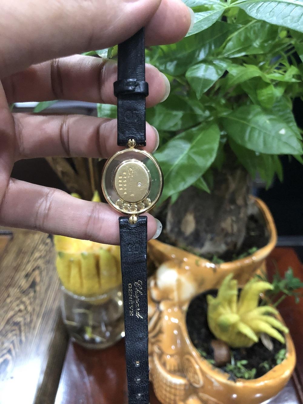 Chopard Happy Lady Diamonds Gold đồng hồ nữ siêu mỏng