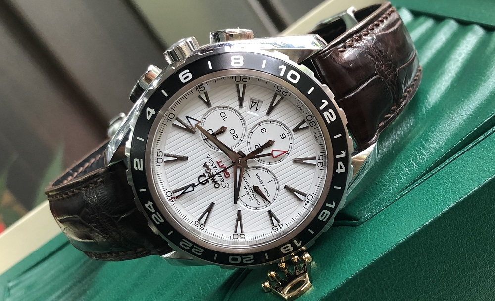 Omega Aqua Rerra 150M Co-Axial GMT Chronograph