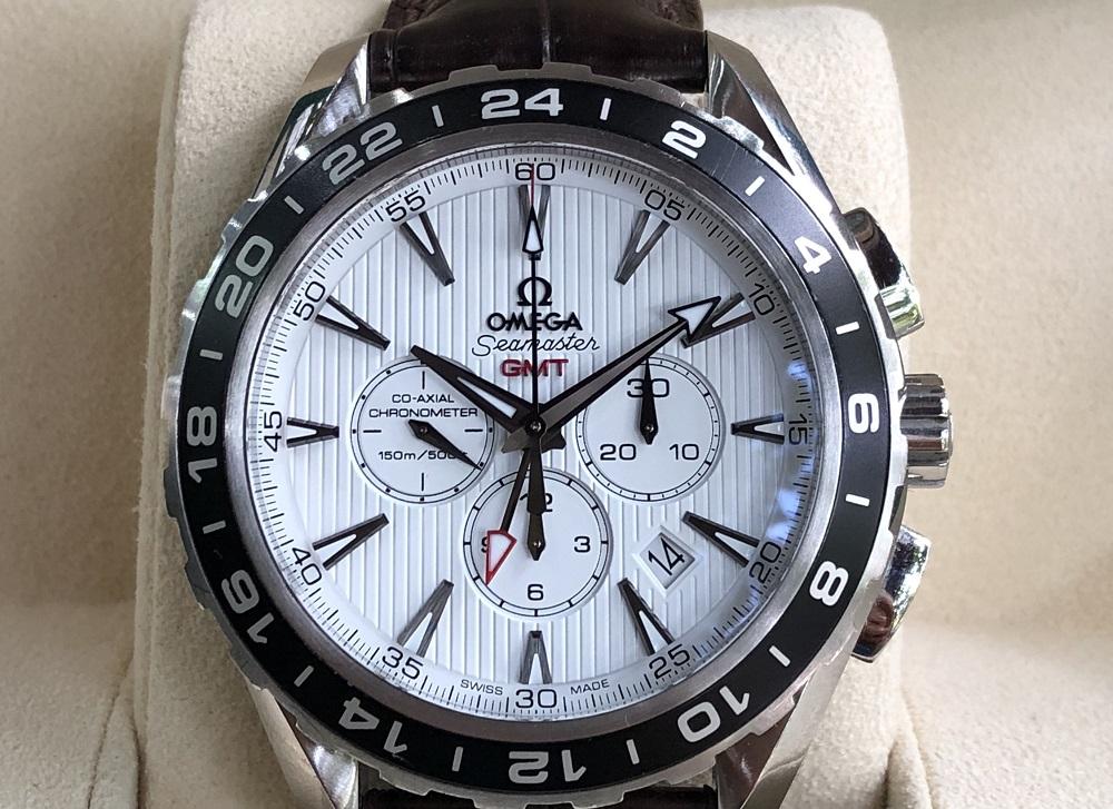 Omega Aqua Rerra 150M Co-Axial GMT Chronograph