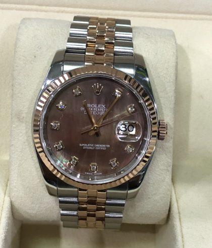 Rolex Datejust Ref.116231 mặt ốc tím đời 2012