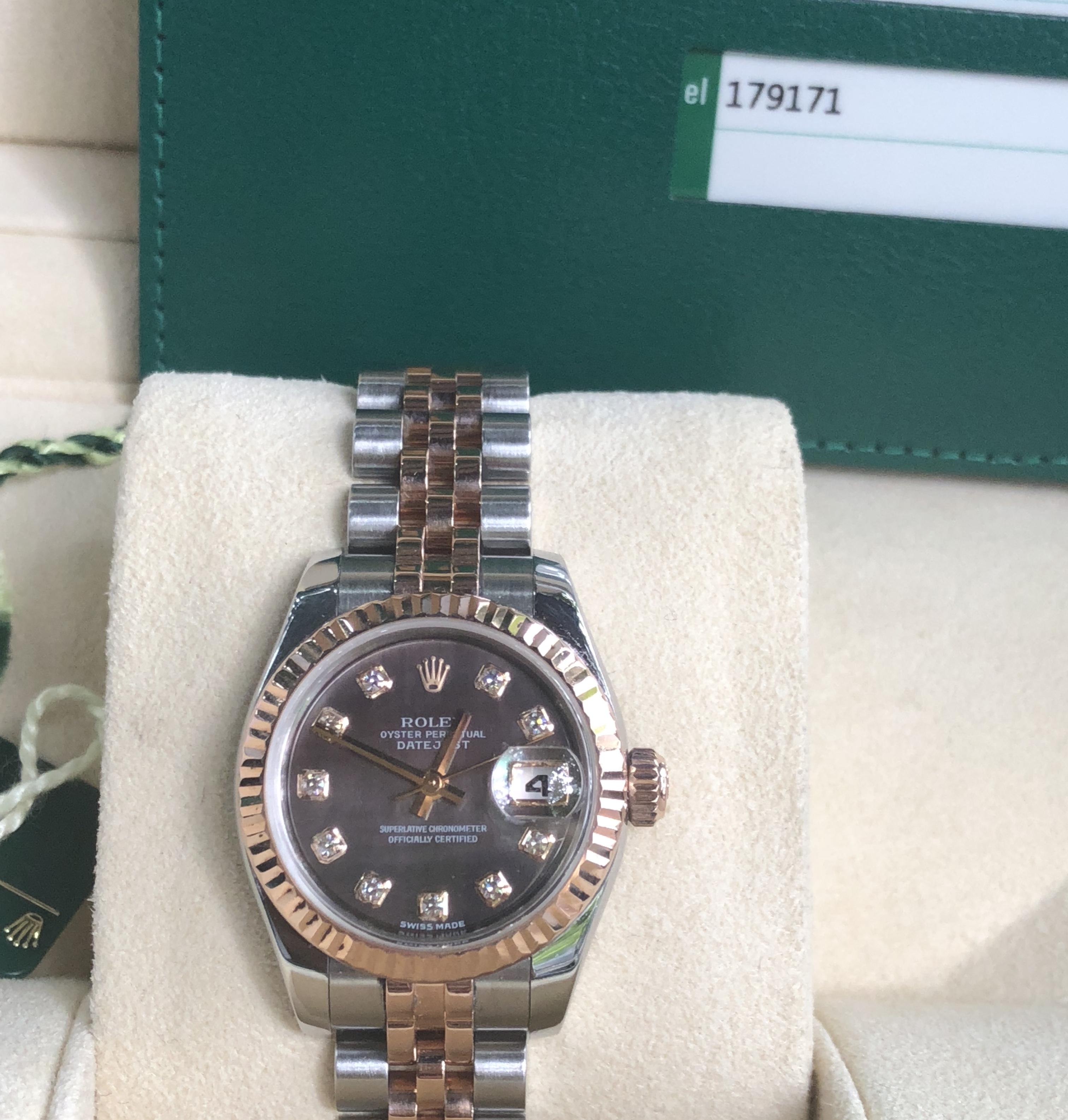Rolex Datejust Lady Ref.179171 mặt ốc tím đời 2015