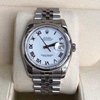 Rolex Datejust Ref.116200 demi vàng trắng 18k đời 2011