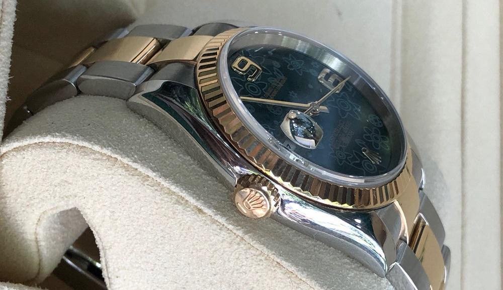 Rolex Datejust Ref.116203 mặt đá hoa đào đời 2004/2005