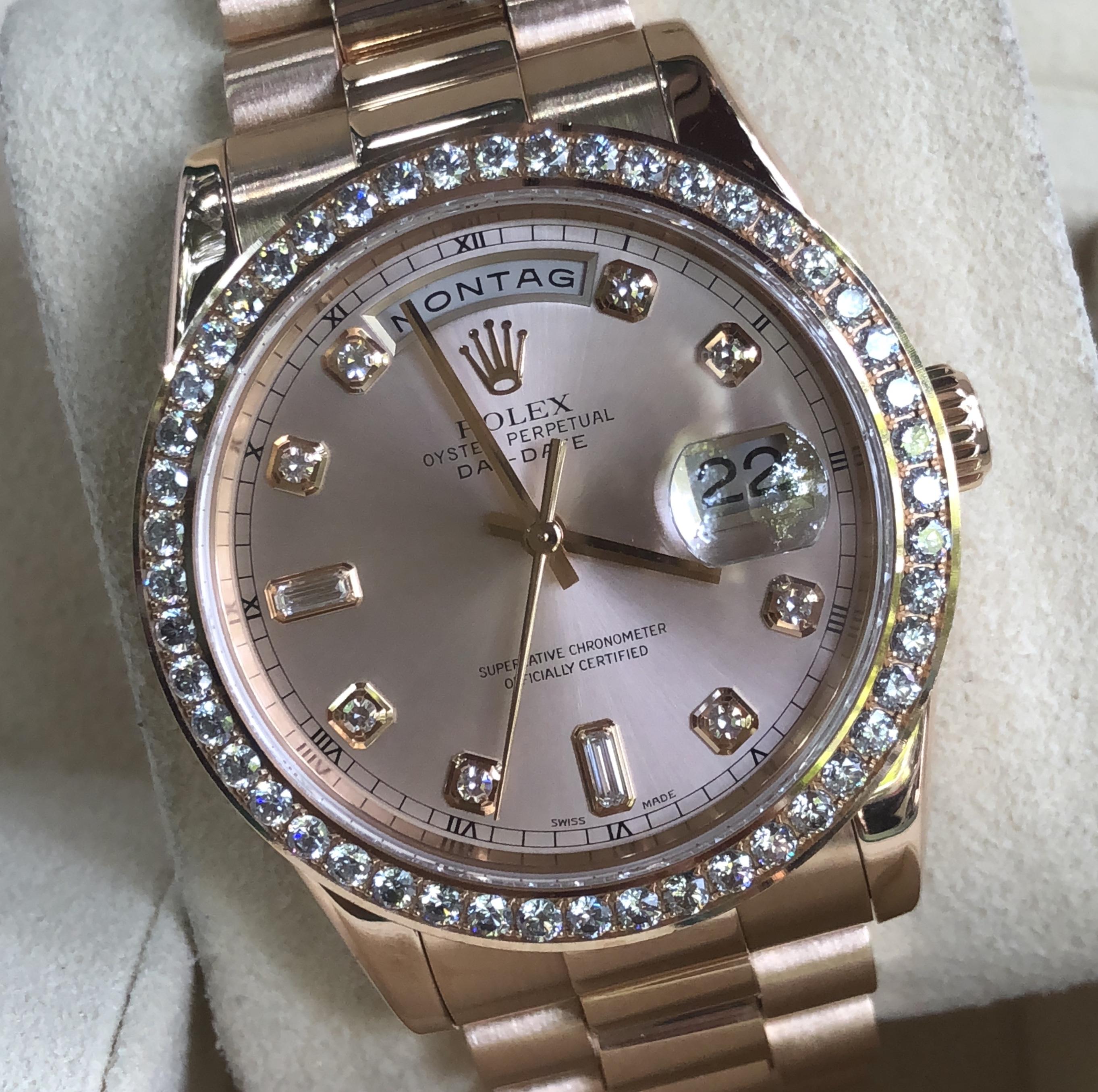 Rolex Day-Date Ref.118205 vàng hồng khối 18k đời 2003