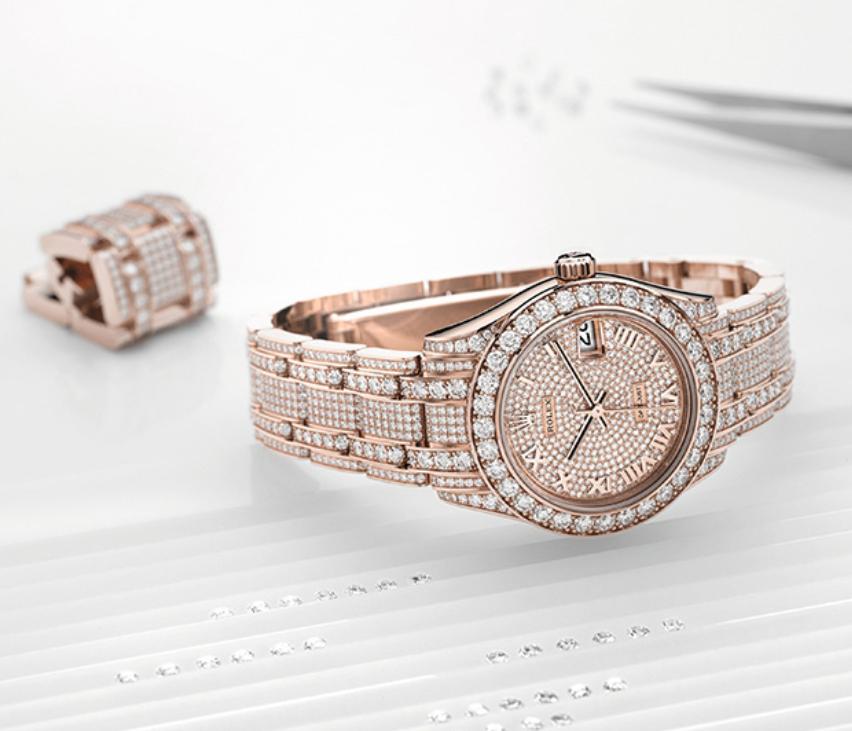 Tìm hiểu về nghệ thuật đính đá của thương hiệu Rolex