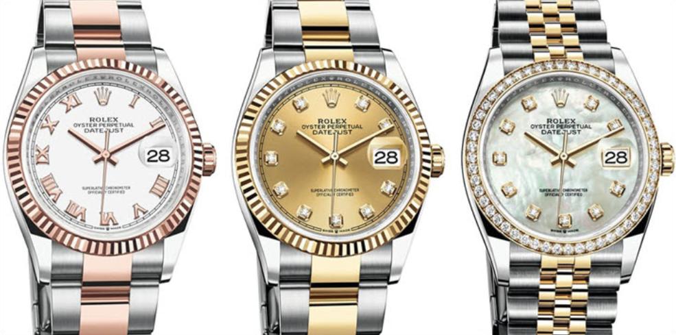 Rolex Datejust 36 Ref. 126231 và 126233 Rolesor (Vàng và thép)