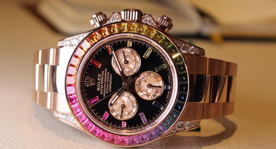 """Rolex Daytona 116595RBOW """"Cầu vồng"""" Everose Gold"""