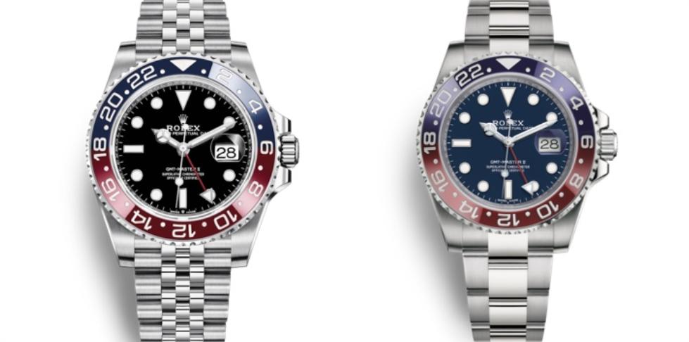 Đồng hồ Rolex GMT-Master II Pepsi và Rolex GMT-Master II Ref. 116719BLRO