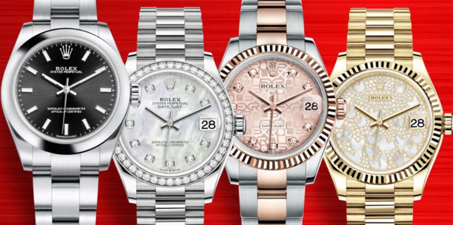 Đồng hồ Rolex nữ có kích thước trung bình