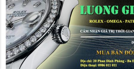 Giao diện website mua bán đồng hồ Lương Gia
