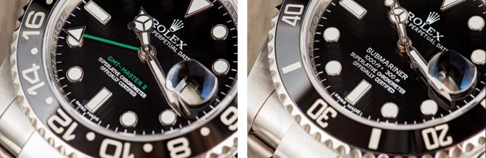 GMT-Master và Submariner có một vài khía cạnh khác nhau