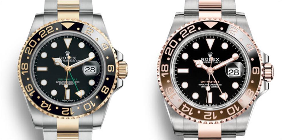 Rolex GMT-Master II chất liệu Vàng thép, vàng hồng thép