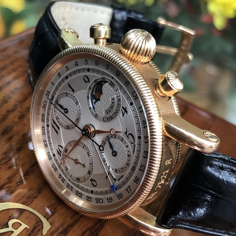 Chronoswiss Lunar CH7521 R Rose Gold Chronograph Moonphase