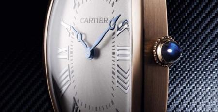 Đồng hồ Cartier Tonneau Large phiên bản vàng hồng