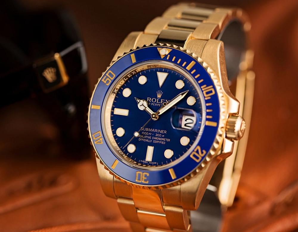 Kết quả hình ảnh cho Rolex vàng khối