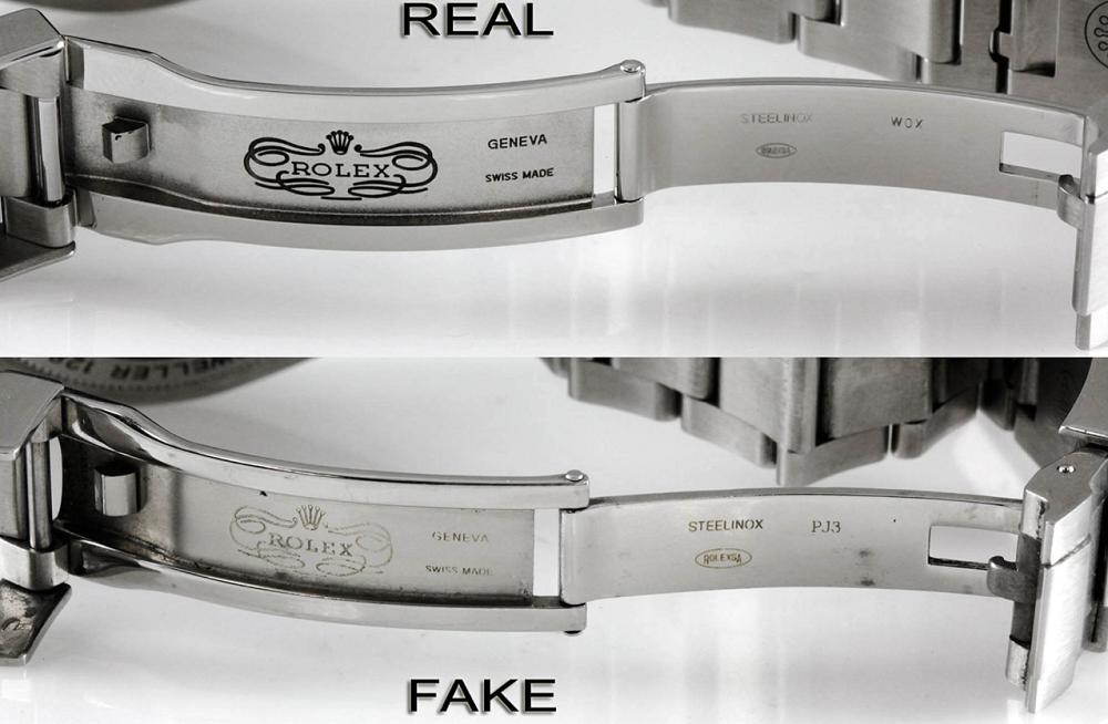 Khóa đồng hồ Rolex thật và giả