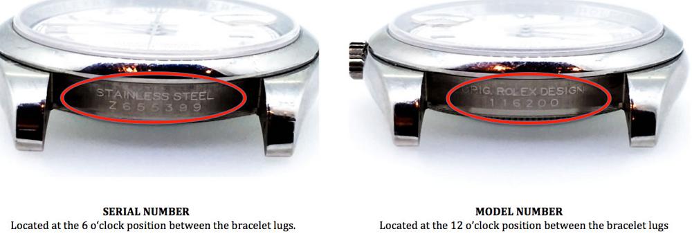 Xem số serial trên đồng hồ Rolex