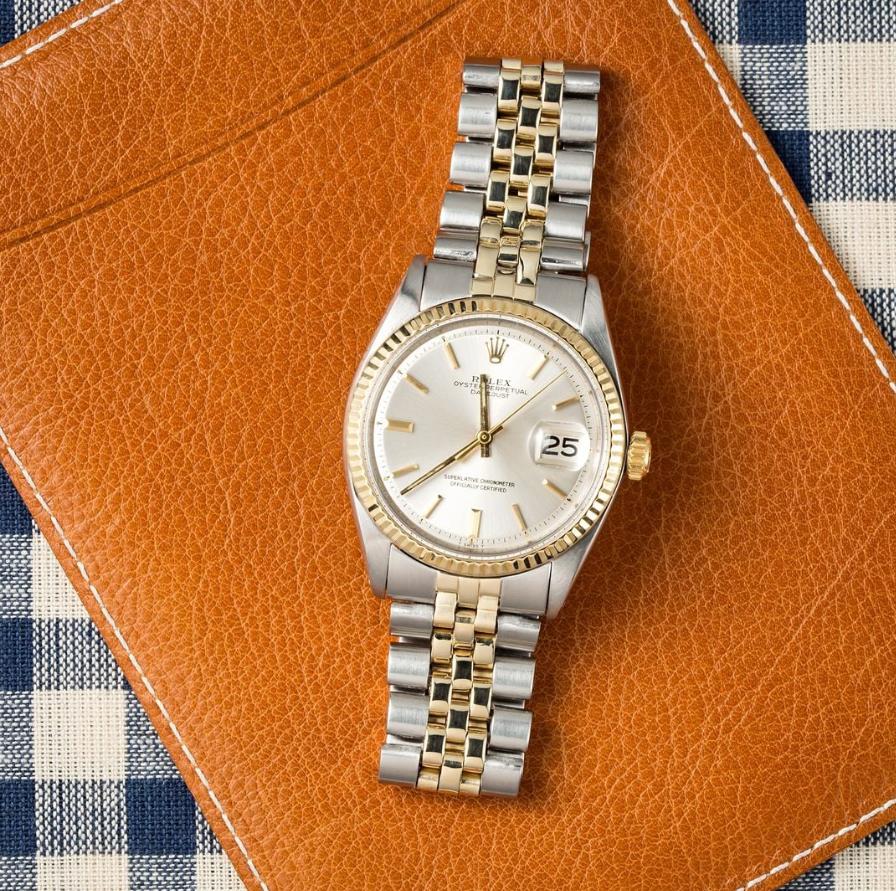 Rolex Datejust Silver Pie Pan 1601
