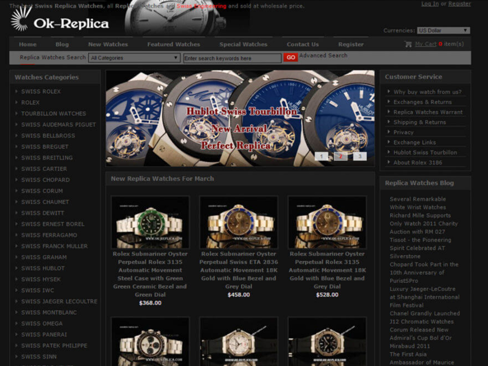 Website bán đồng hồ giả