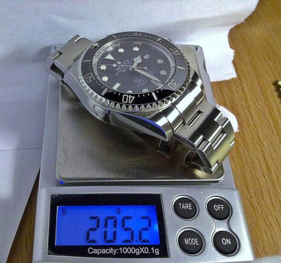 Trọng lượng đồng hồ Rolex