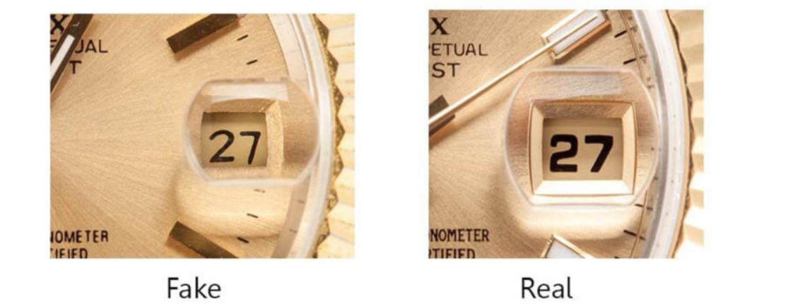 Thấu kính trên mặt kính Rolex