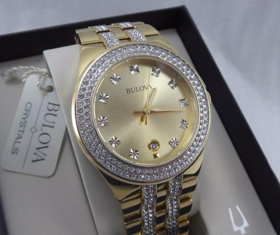 Đồng hồ mạ vàng Bulova Swarovski Crystal