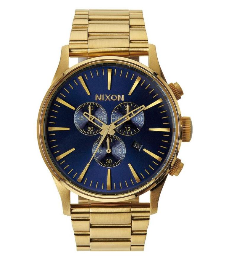 Đồng hồ Nixon Gold Blue Sunray Sentry Chronograph