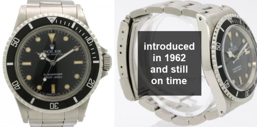 Đồng hồ Rolex Submariner cổ điển bền và hoạt động tốt theo thời gian