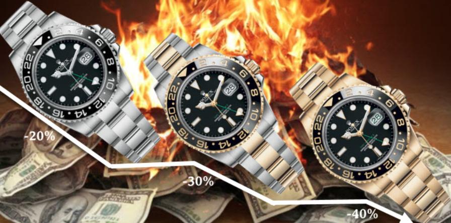 Mức khấu hao giá trị đồng hồ Rolex từ vật liệu
