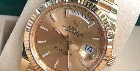 Rolex Day-Date 40mm Ref. 228238 mặt số Champagne