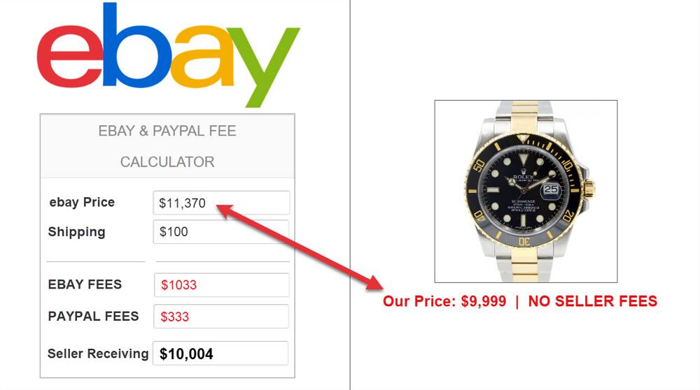 Mua đồng hồ Rolex từ đại lý trên eBay