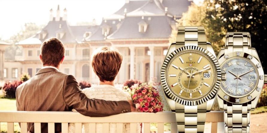 Đồng hồ đôi Rolex Yellow Gold