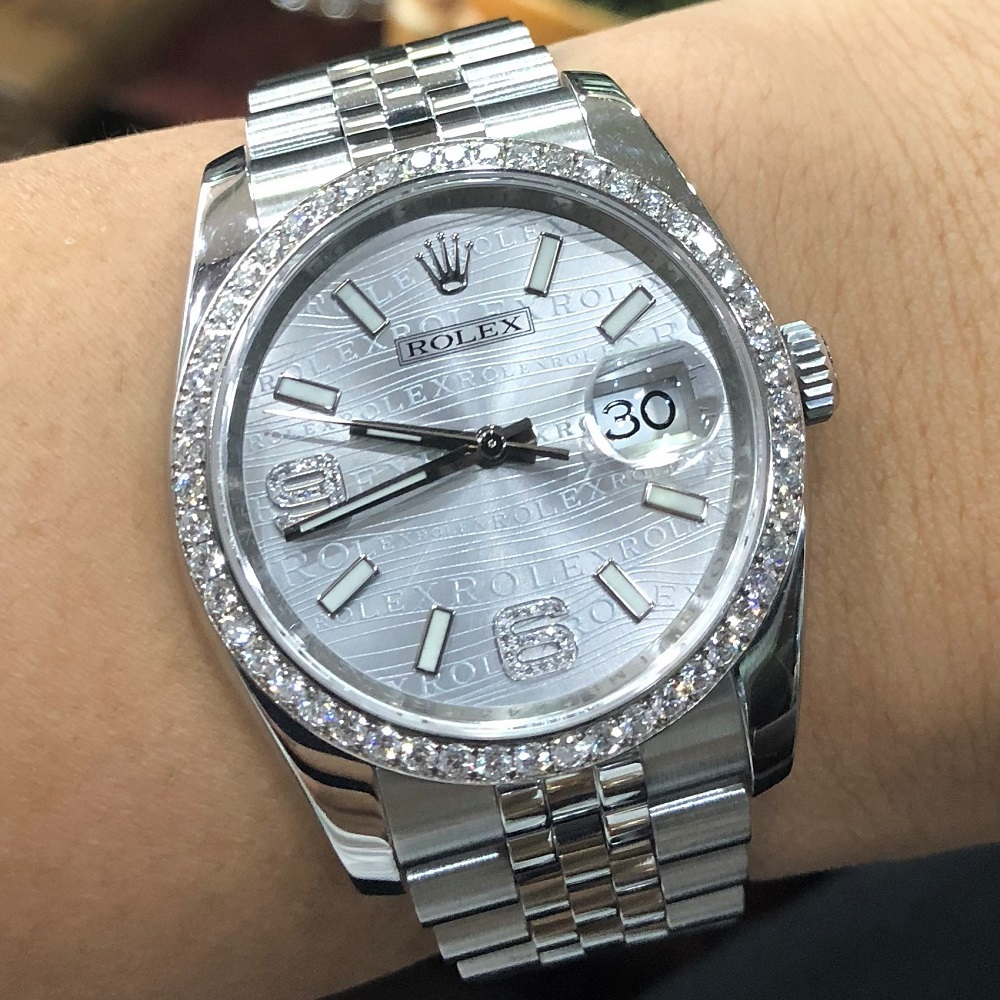 Rolex Datejust 36 Ref. 116244 Bezel White Gold diamon